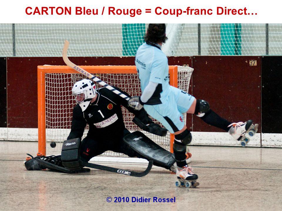 CARTON Bleu / Rouge = Coup-franc Direct…