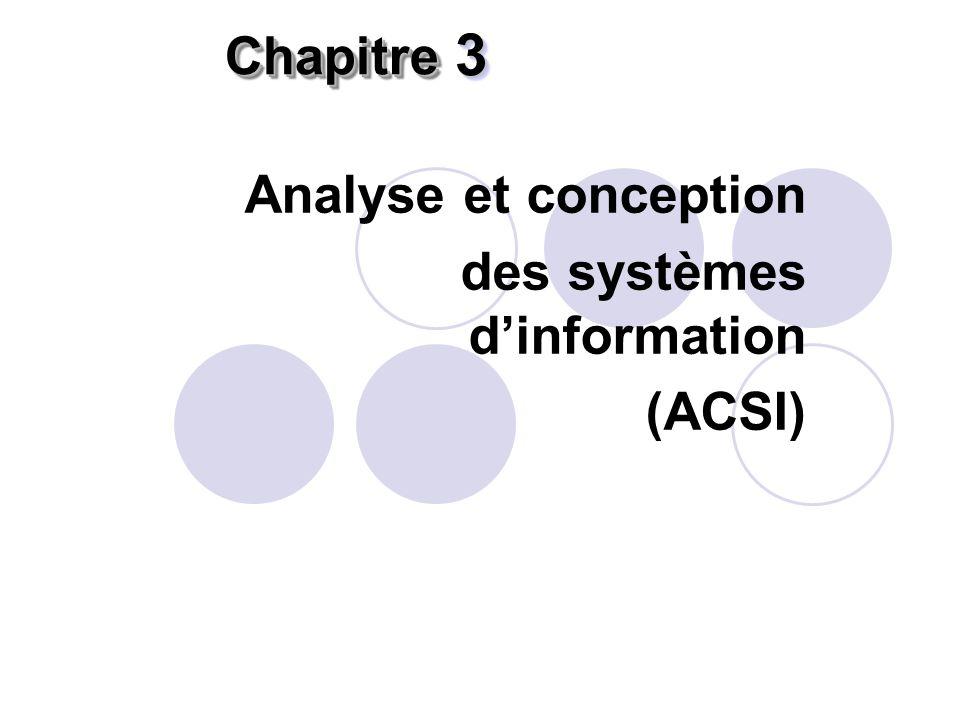 Analyse et conception des systèmes d'information (ACSI)