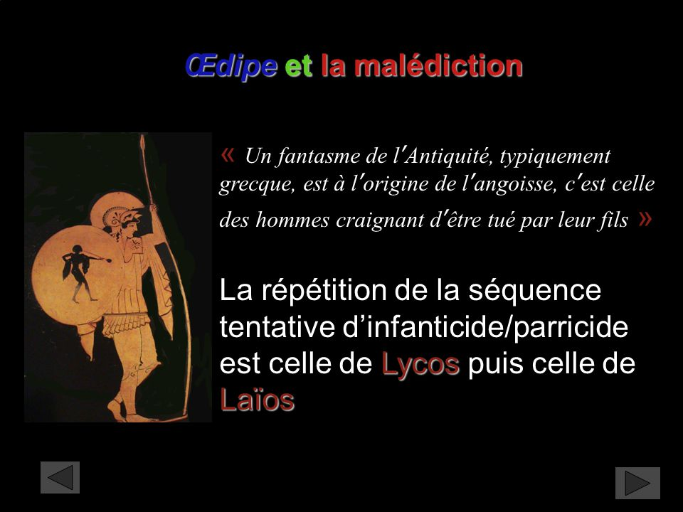 Œdipe et la malédiction