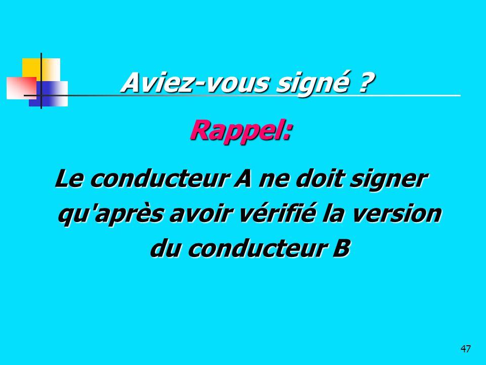 Aviez-vous signé Rappel: