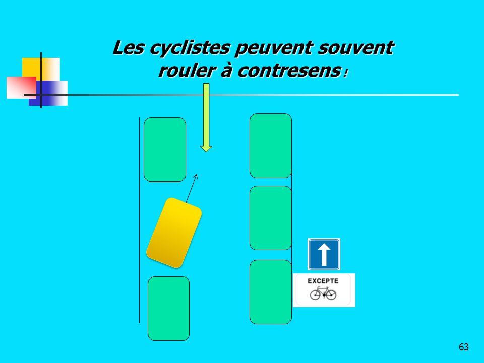 Les cyclistes peuvent souvent rouler à contresens !