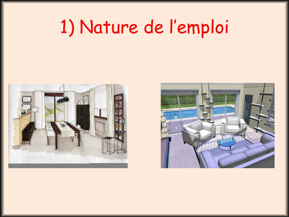 Architecte d int rieur ppt video online t l charger for Emploi architecte d interieur