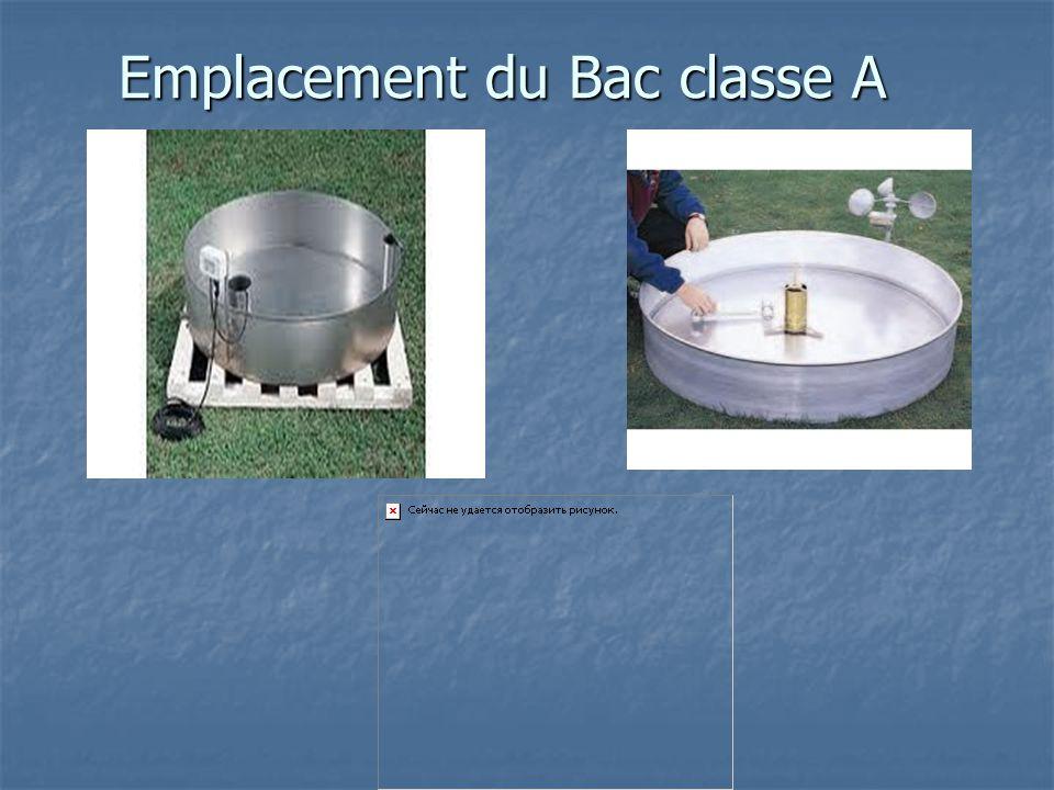 Emplacement du Bac classe A