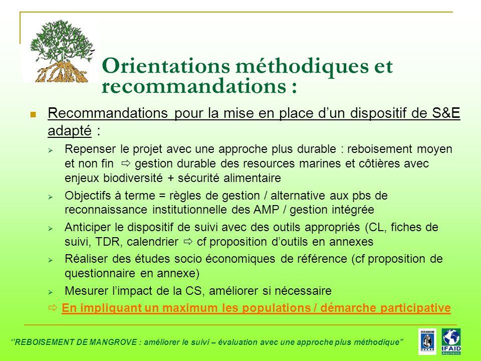 Orientations méthodiques et recommandations :