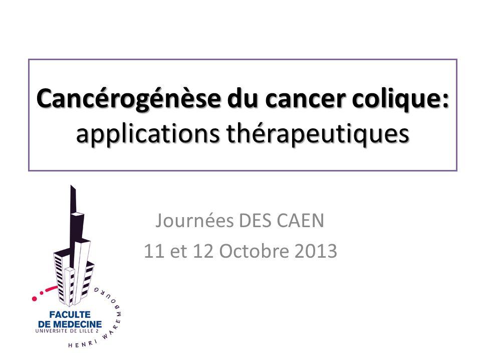 Cancérogénèse du cancer colique: applications thérapeutiques