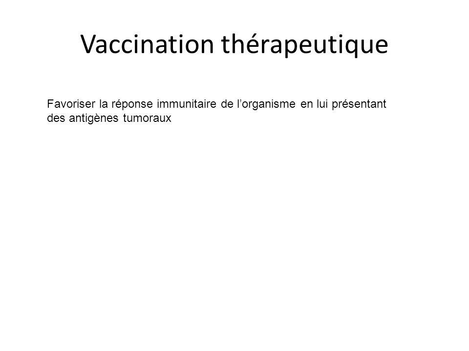 Vaccination thérapeutique