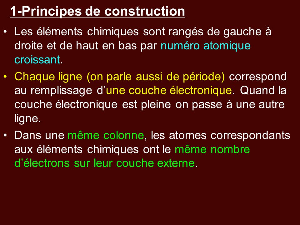 1-Principes de construction