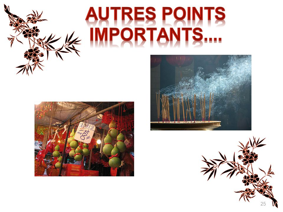 Autres points importants....