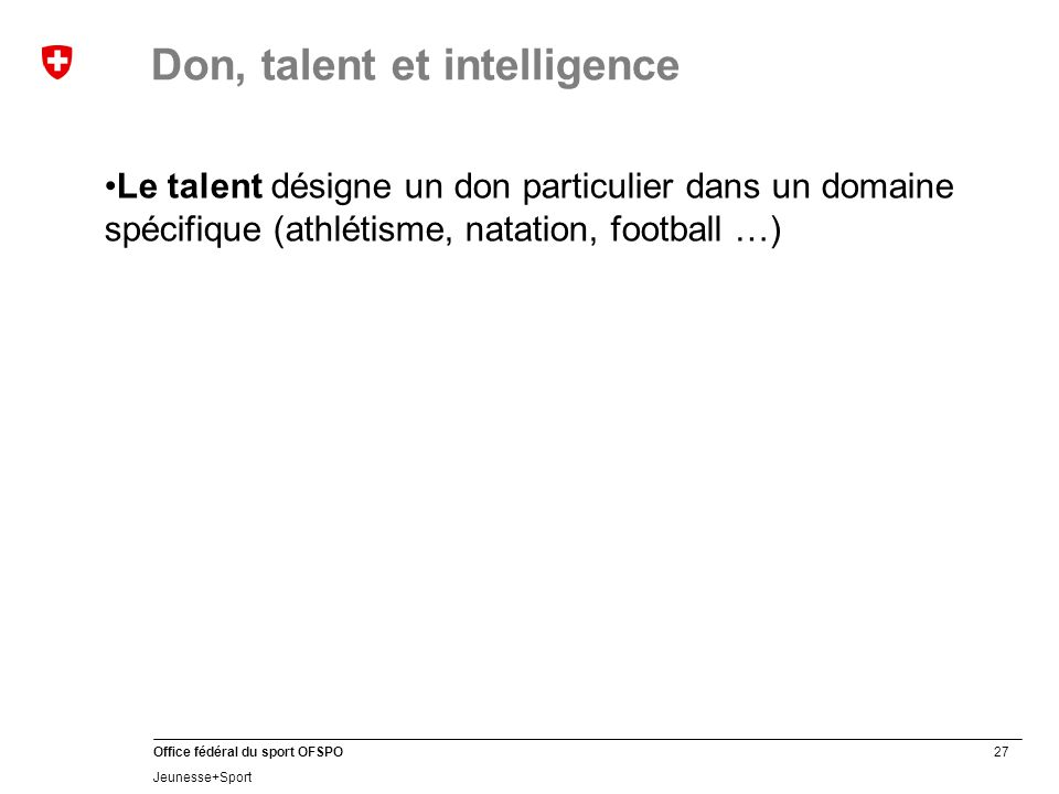Don, talent et intelligence