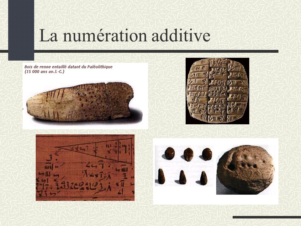 La numération additive