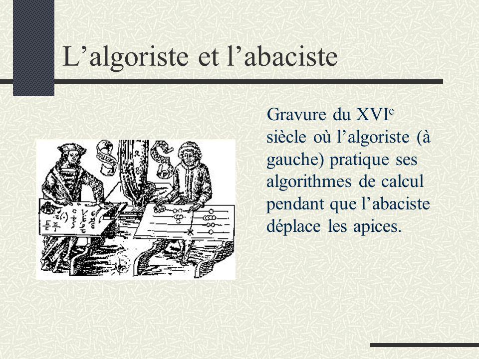 L'algoriste et l'abaciste