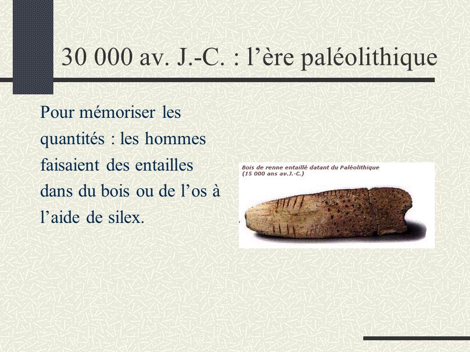 30 000 av. J.-C. : l'ère paléolithique