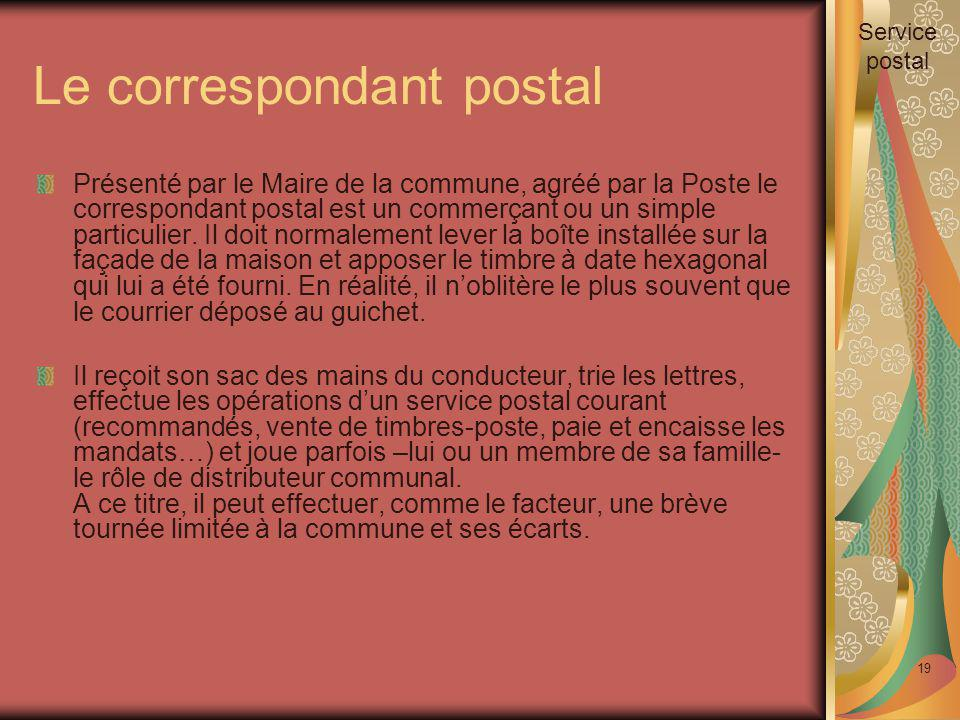 Le correspondant postal