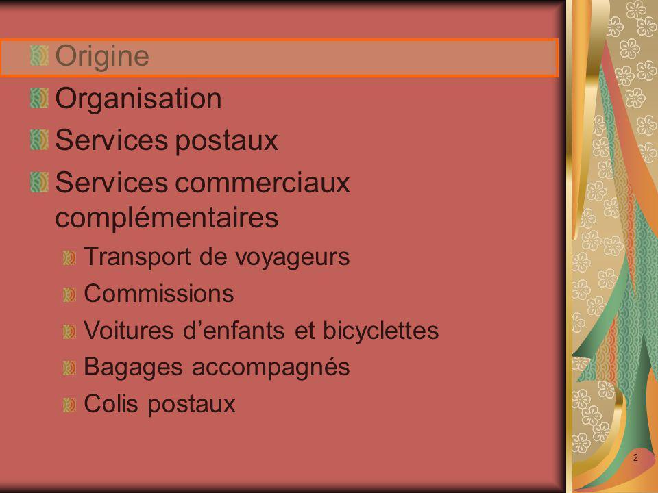 Services commerciaux complémentaires