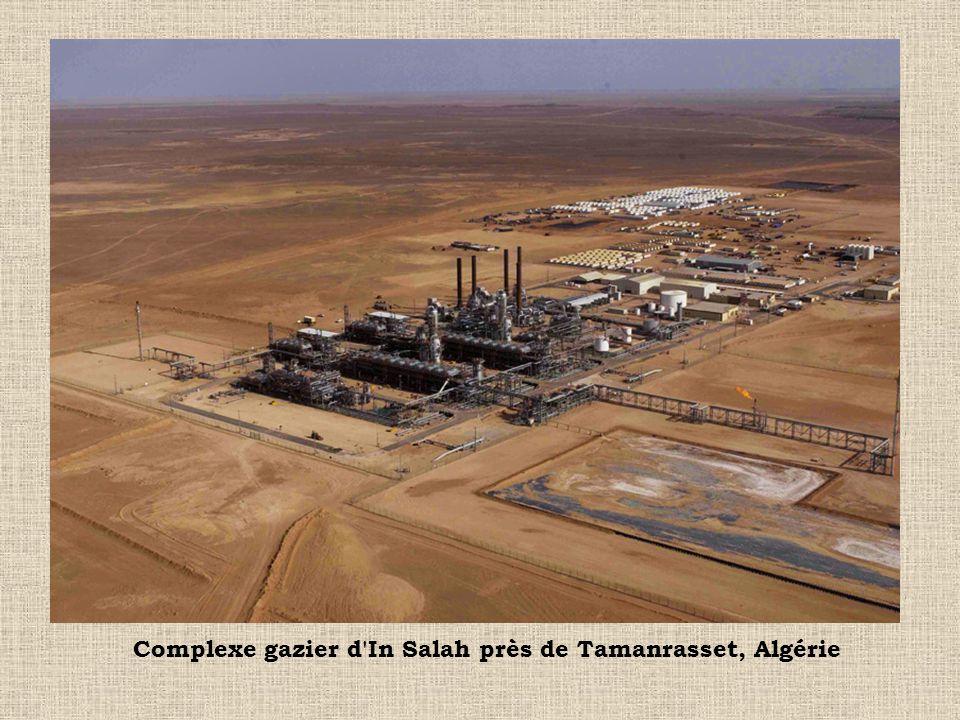 Complexe gazier d In Salah près de Tamanrasset, Algérie