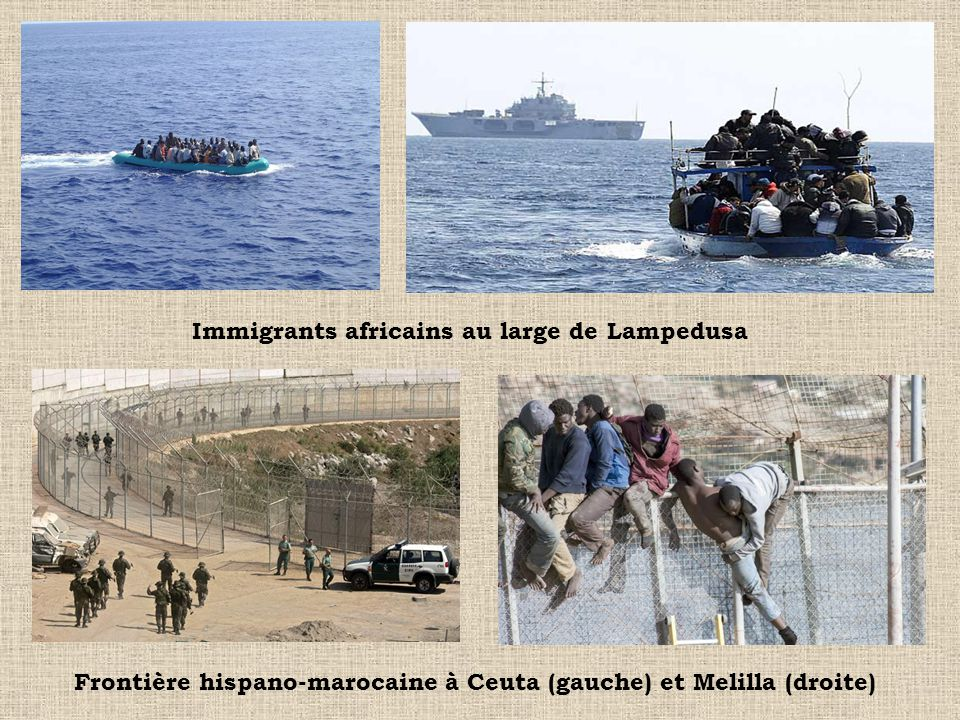 Immigrants africains au large de Lampedusa