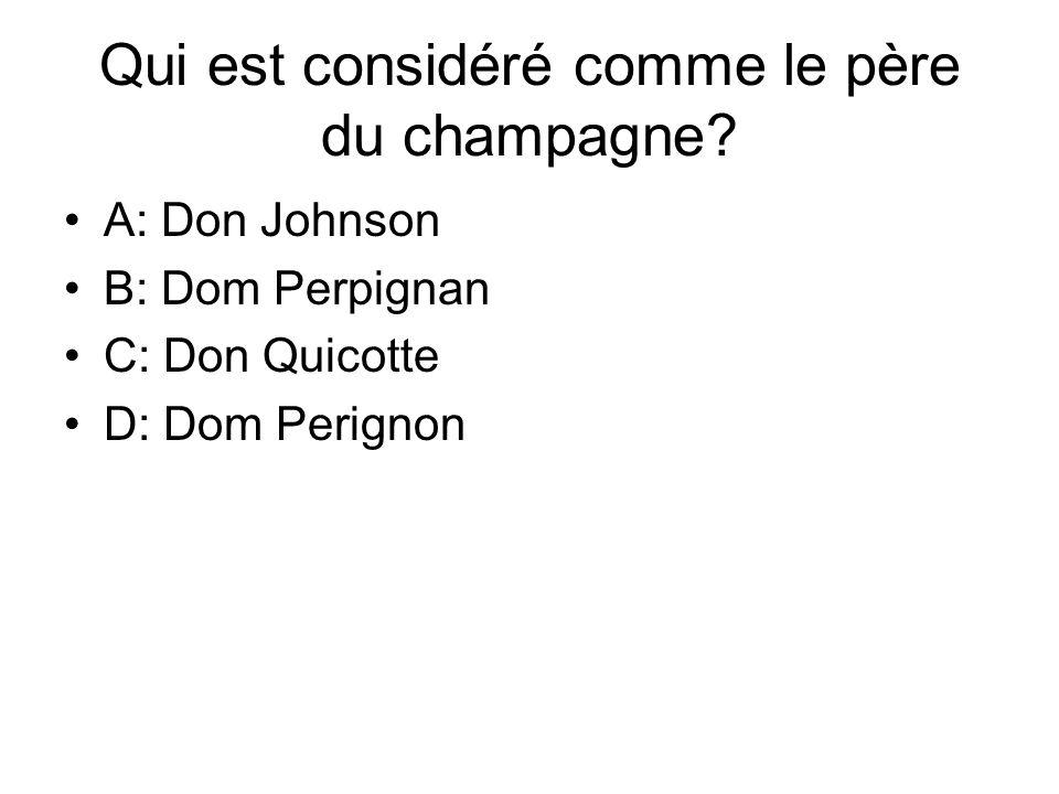 Qui est considéré comme le père du champagne
