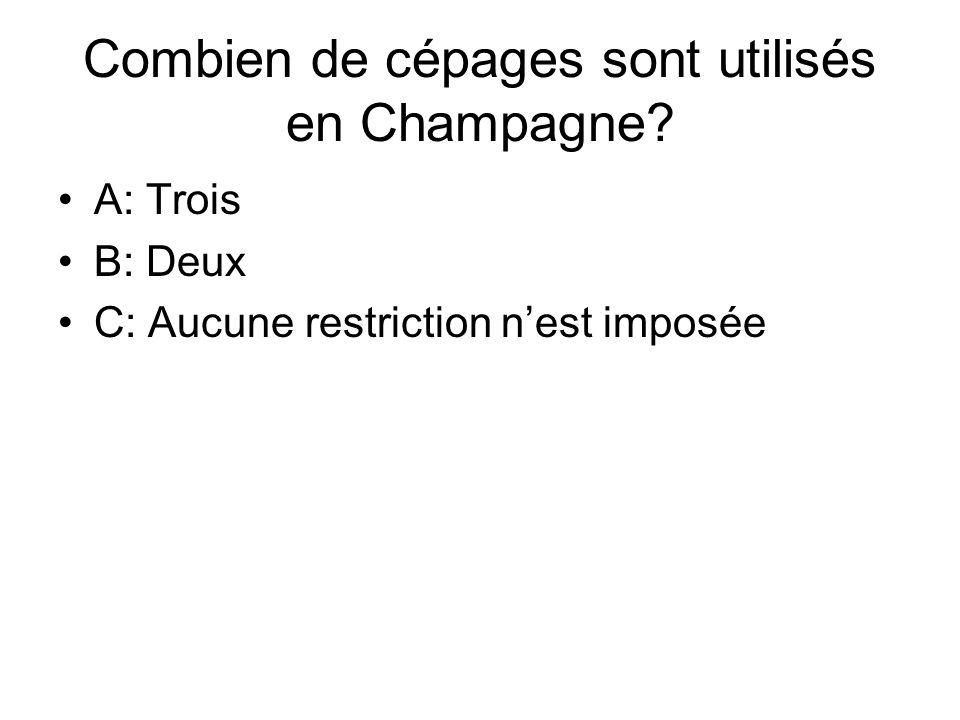 Combien de cépages sont utilisés en Champagne