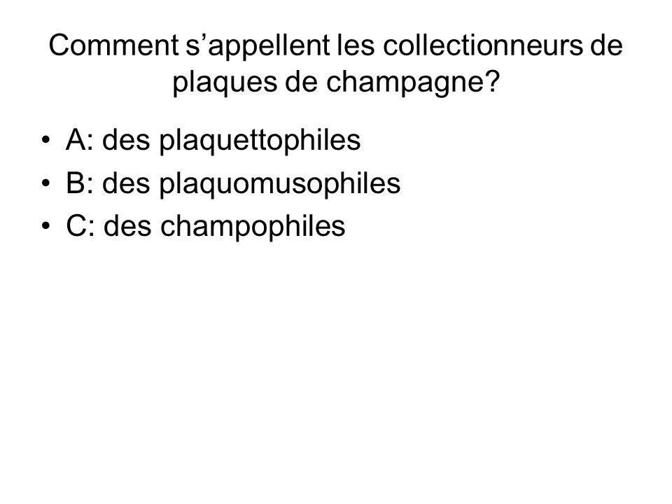 Comment s'appellent les collectionneurs de plaques de champagne