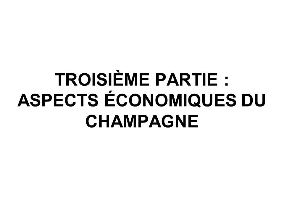 TROISIÈME PARTIE : ASPECTS ÉCONOMIQUES DU CHAMPAGNE
