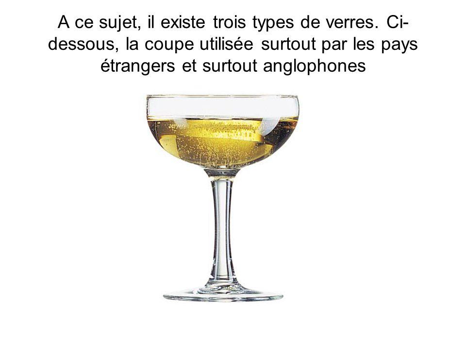 A ce sujet, il existe trois types de verres