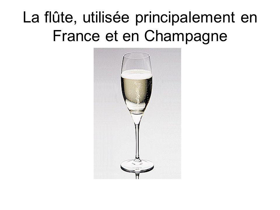 La flûte, utilisée principalement en France et en Champagne