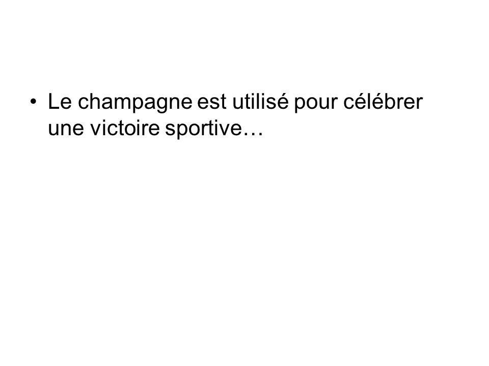 Le champagne est utilisé pour célébrer une victoire sportive…