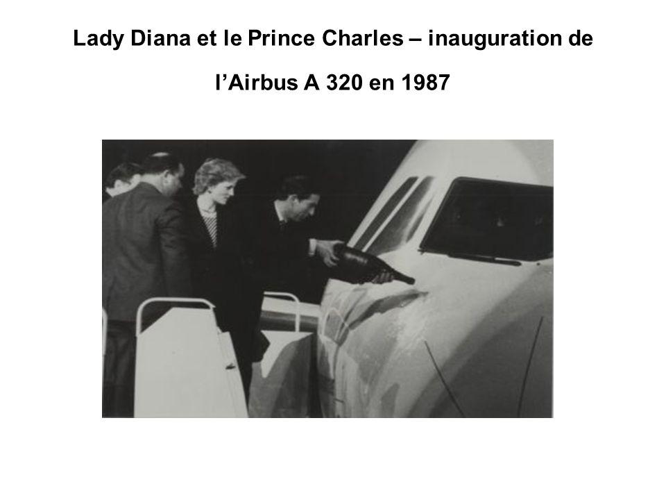 Lady Diana et le Prince Charles – inauguration de l'Airbus A 320 en 1987
