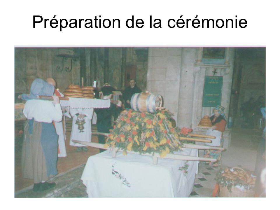 Préparation de la cérémonie