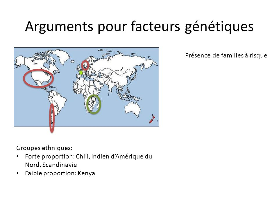Arguments pour facteurs génétiques