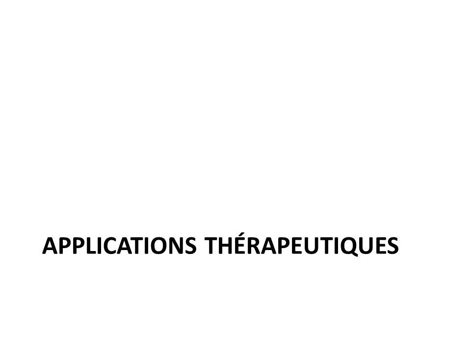 Applications thérapeutiques
