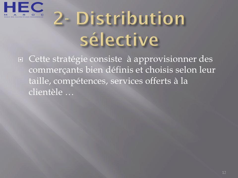 2- Distribution sélective