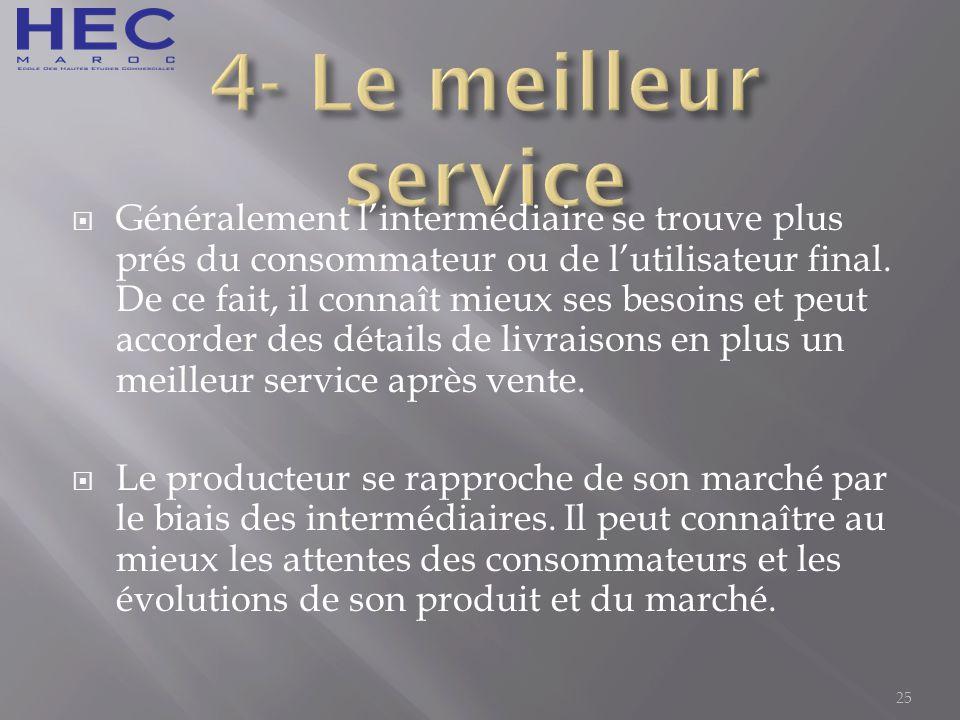 4- Le meilleur service