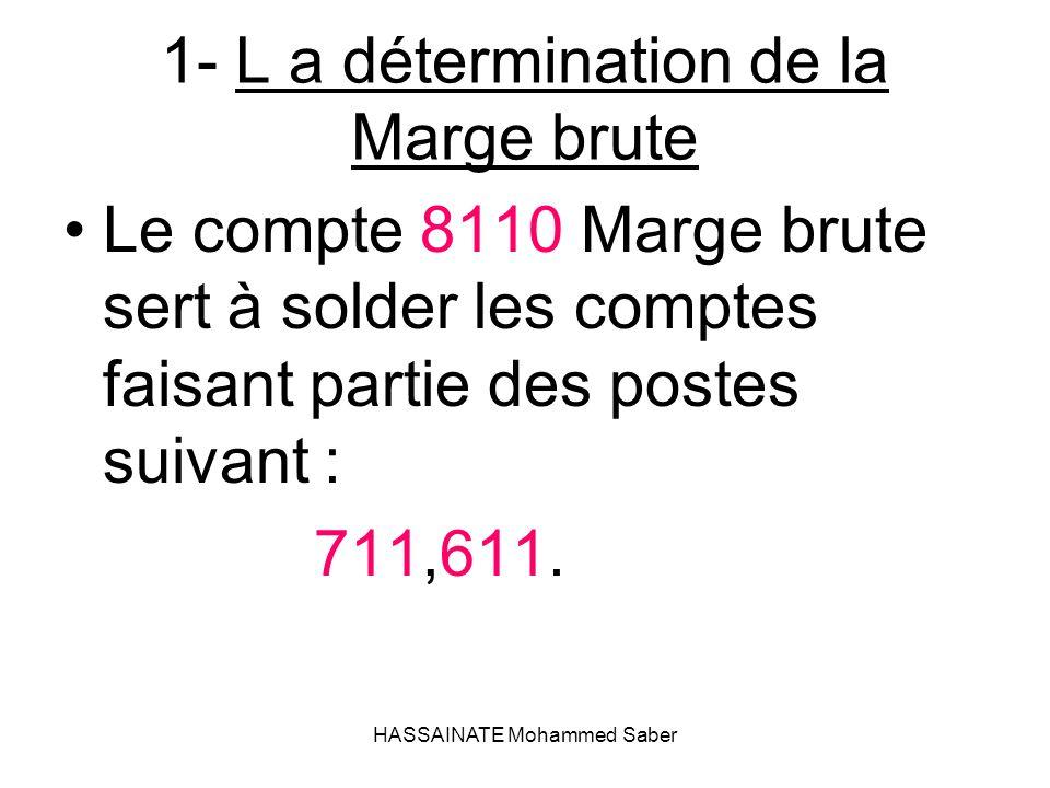 1- L a détermination de la Marge brute