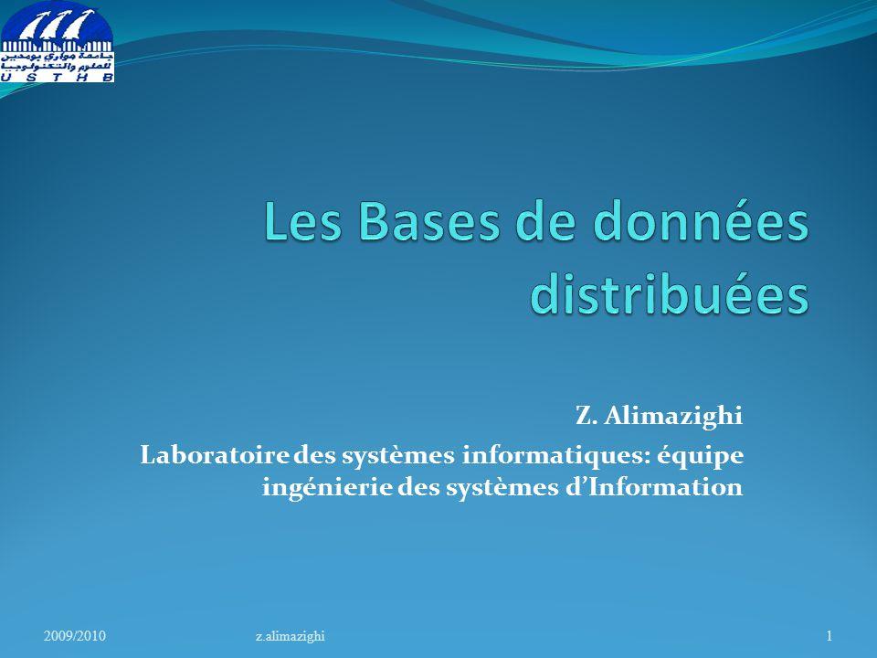 Les Bases de données distribuées
