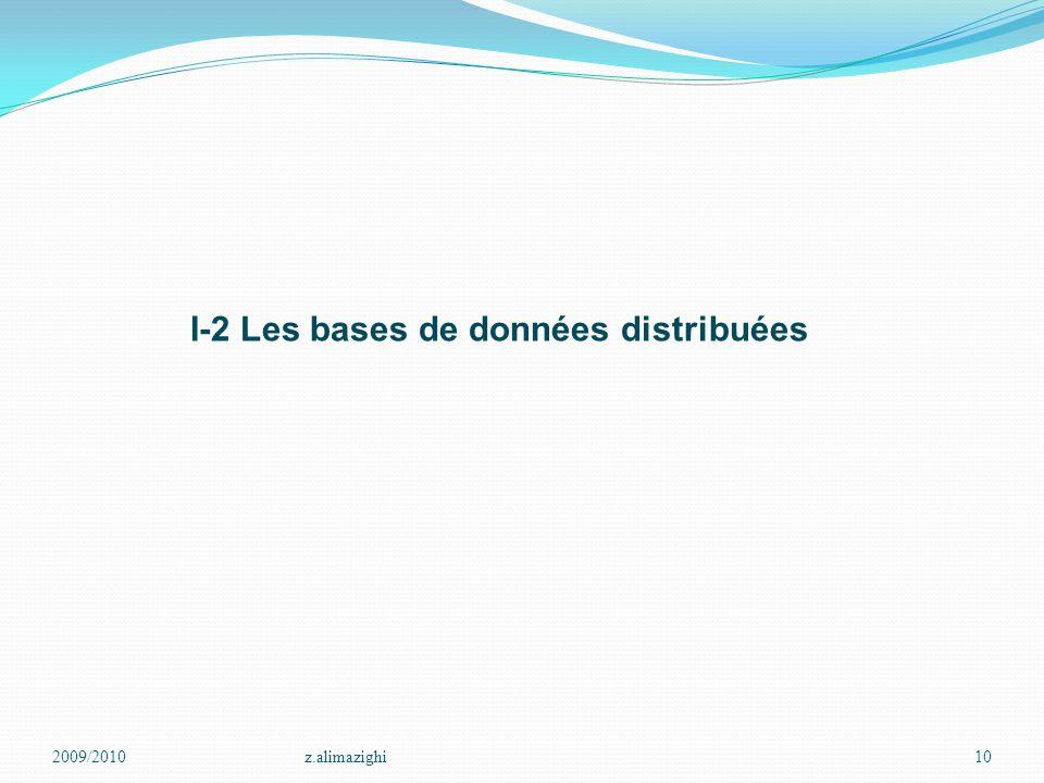 I-2 Les bases de données distribuées