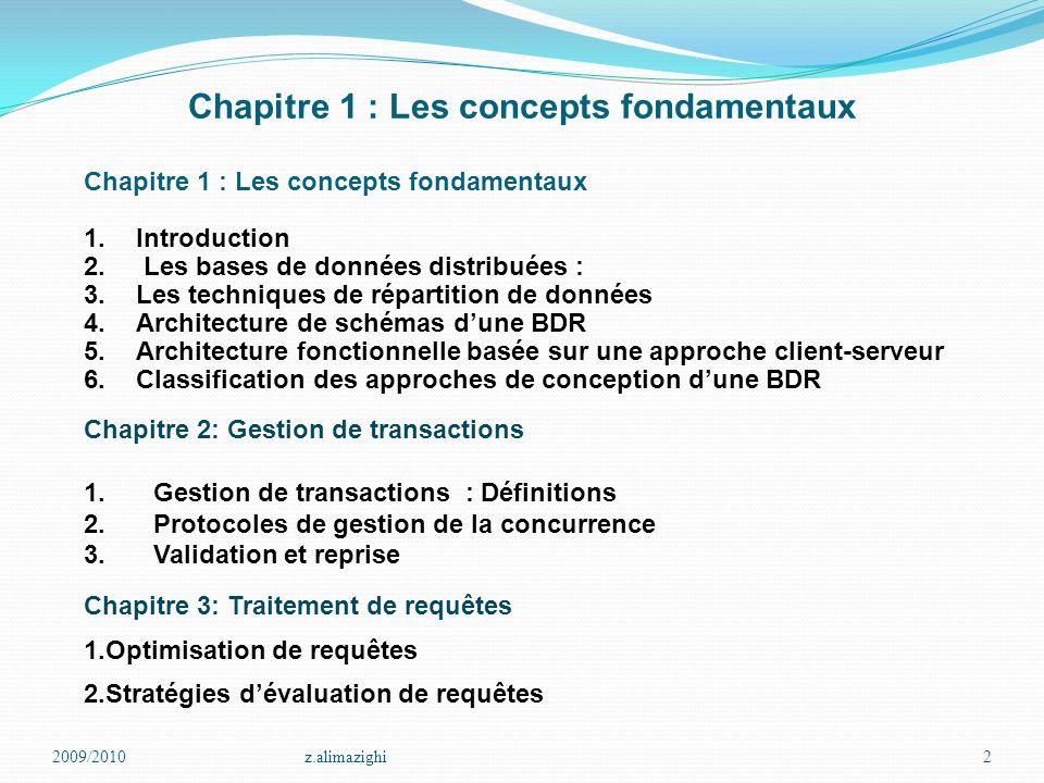 Chapitre 1 : Les concepts fondamentaux