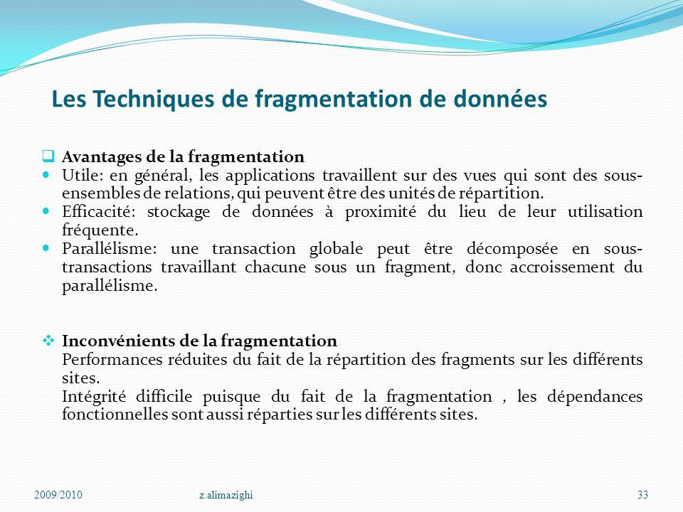 Les Techniques de fragmentation de données