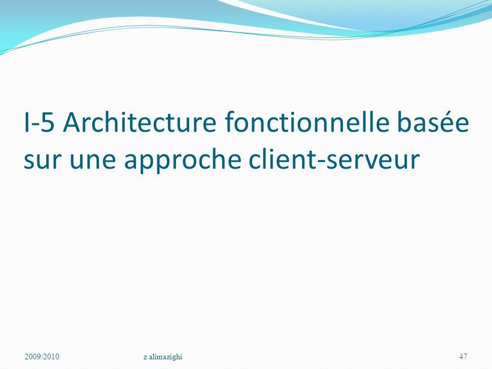 I-5 Architecture fonctionnelle basée sur une approche client-serveur