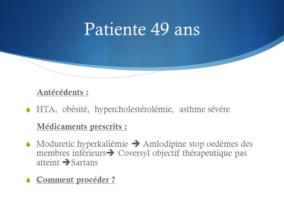 Patiente 49 ans Antécédents :