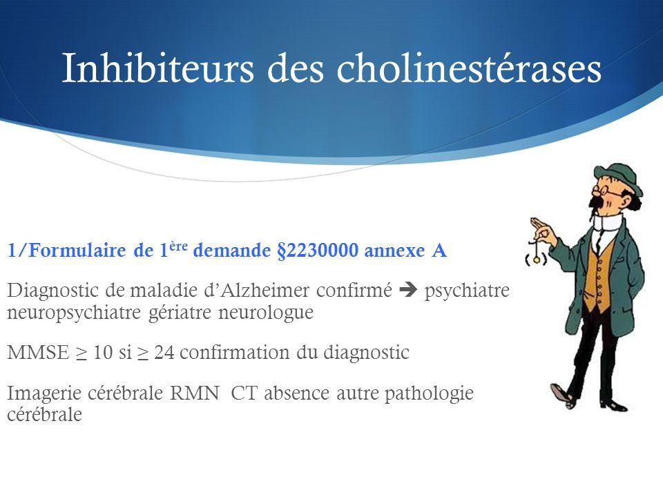 Inhibiteurs des cholinestérases