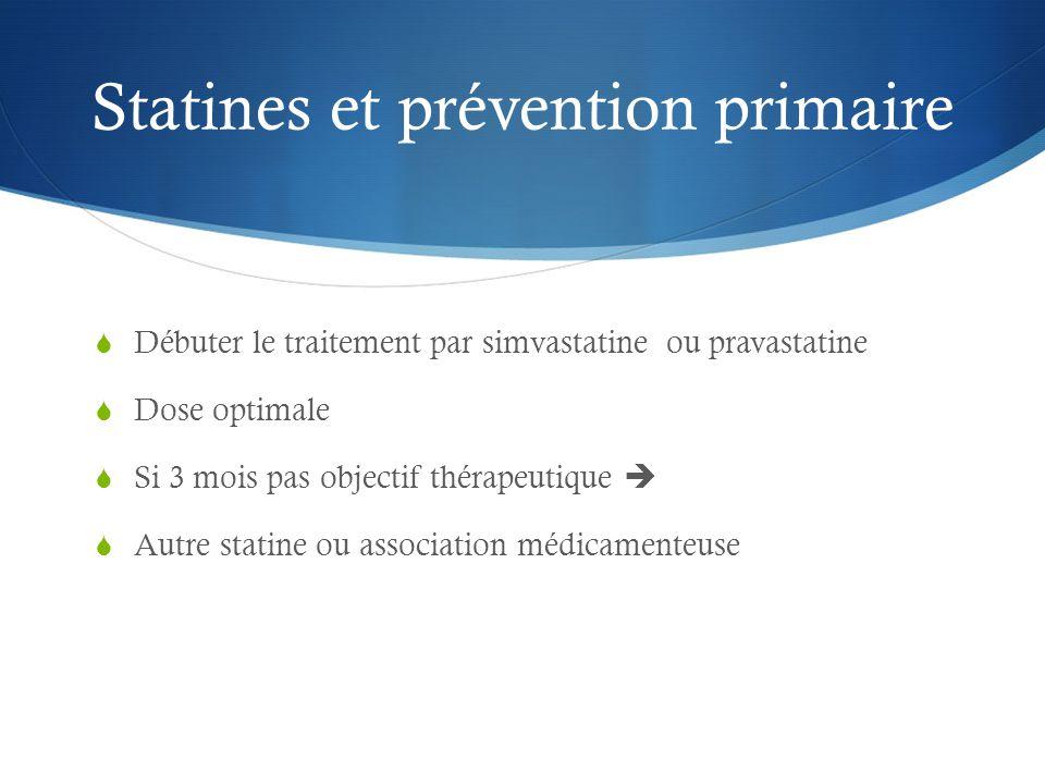 Statines et prévention primaire