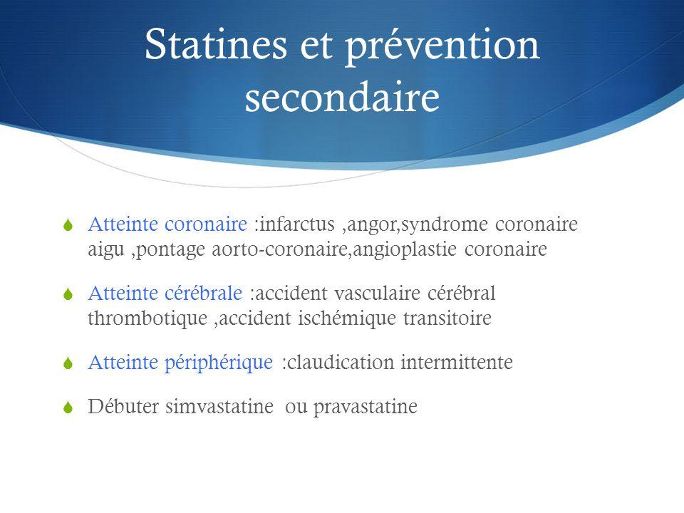 Statines et prévention secondaire