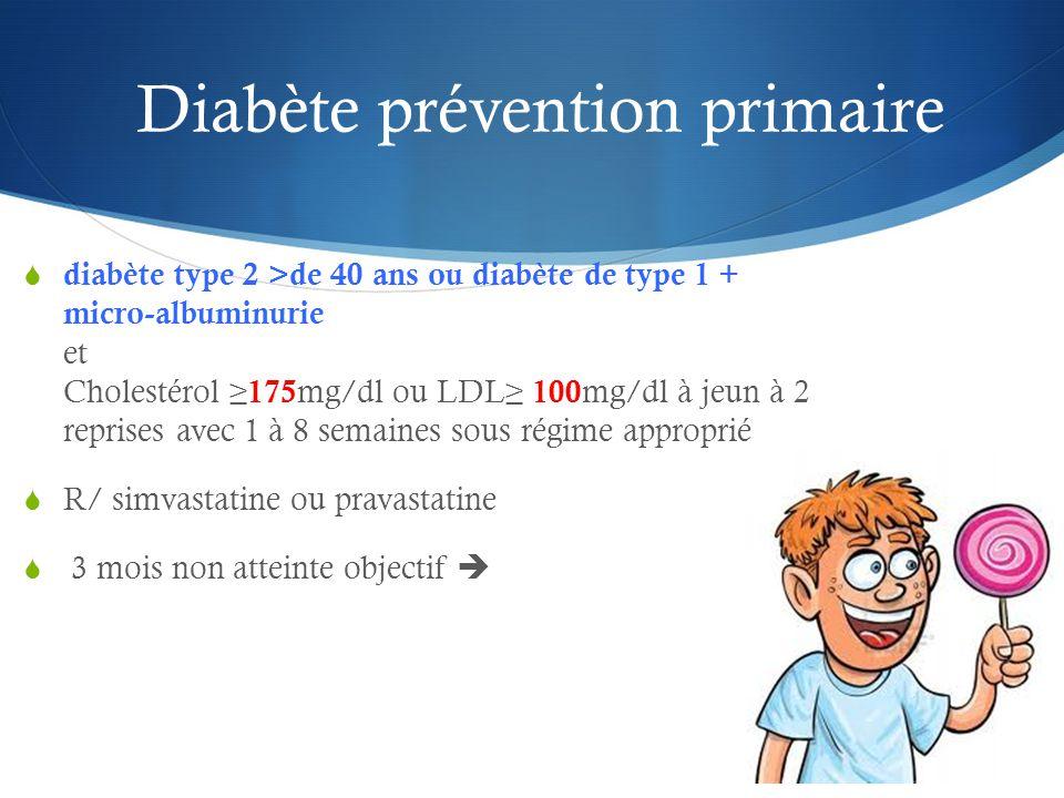 Diabète prévention primaire