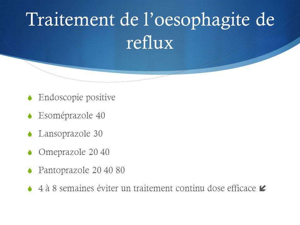 Traitement de l'oesophagite de reflux