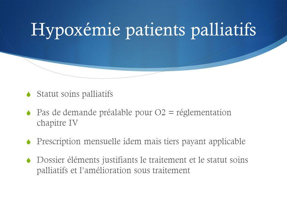 Hypoxémie patients palliatifs