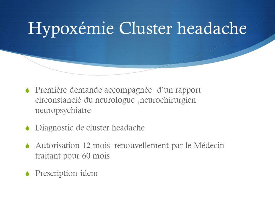 Hypoxémie Cluster headache