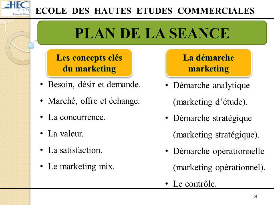 ECOLE DES HAUTES ETUDES COMMERCIALES Les concepts clés du marketing