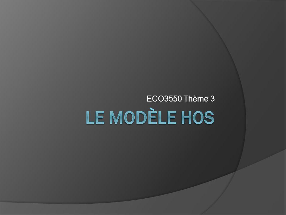 ECO3550 Thème 3 Le modèle HOS
