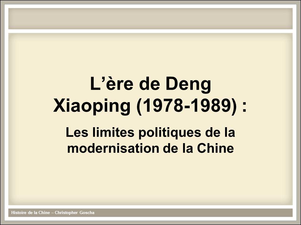 L'ère de Deng Xiaoping (1978-1989) :